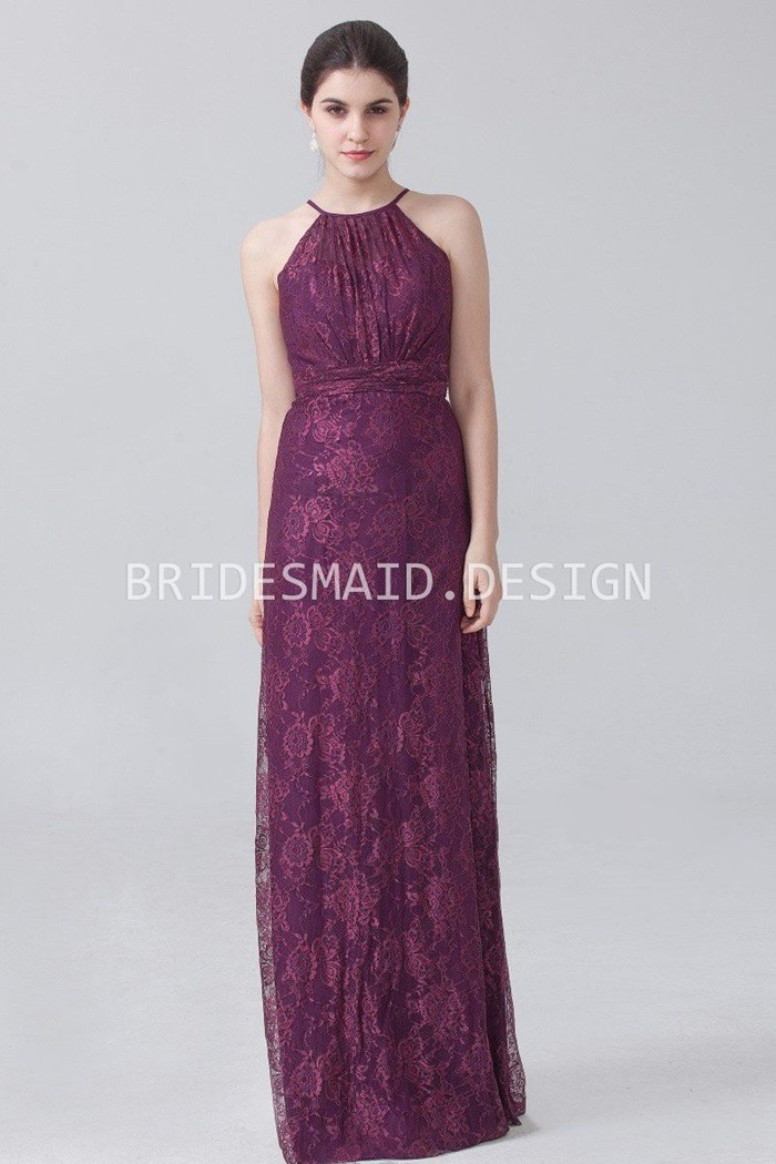 vintage-burgundy-lace-halter-strap-sheath-long-bridesmaid-dress-1