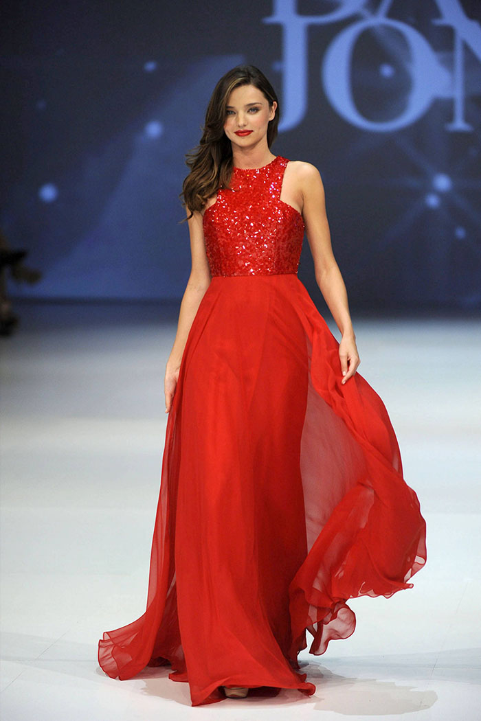 miranda-kerr-red-sequin-jewel-neck-a-line-chiffon-evening-prom-dress