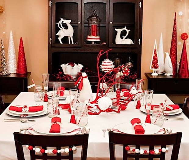 other-design-exciting-table-decorations-for-christmas-with-black-cupboard-also-unique-red-and-white-chandles-at-simplistic-dining-room-ideas-35-outstanding-christmas-dinner-table-decoration-ideas