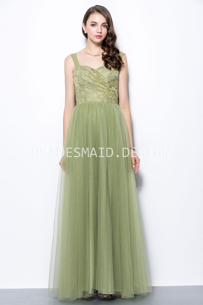 sage-green-lace-and-tulle-sweetheart-wide-strap-a-line-long-bridesmaid-dress-1