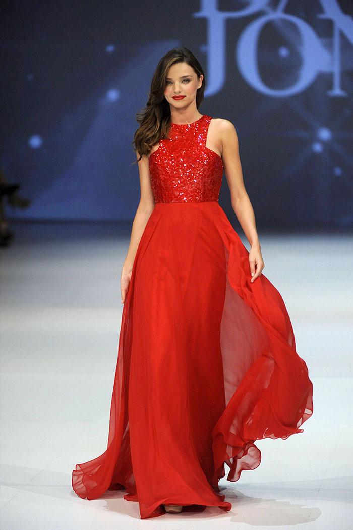 miranda-kerr-red-sequin-jewel-neck-a-line-chiffon-evening-prom-dress