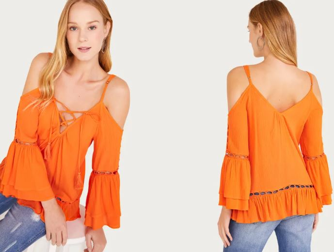 6a7b736304 Sorte que eu encontrei na Shoulder blusas femininas bem elegantes e  sofisticadas